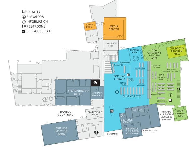 Central Library Floorplan | Newport Beach Library