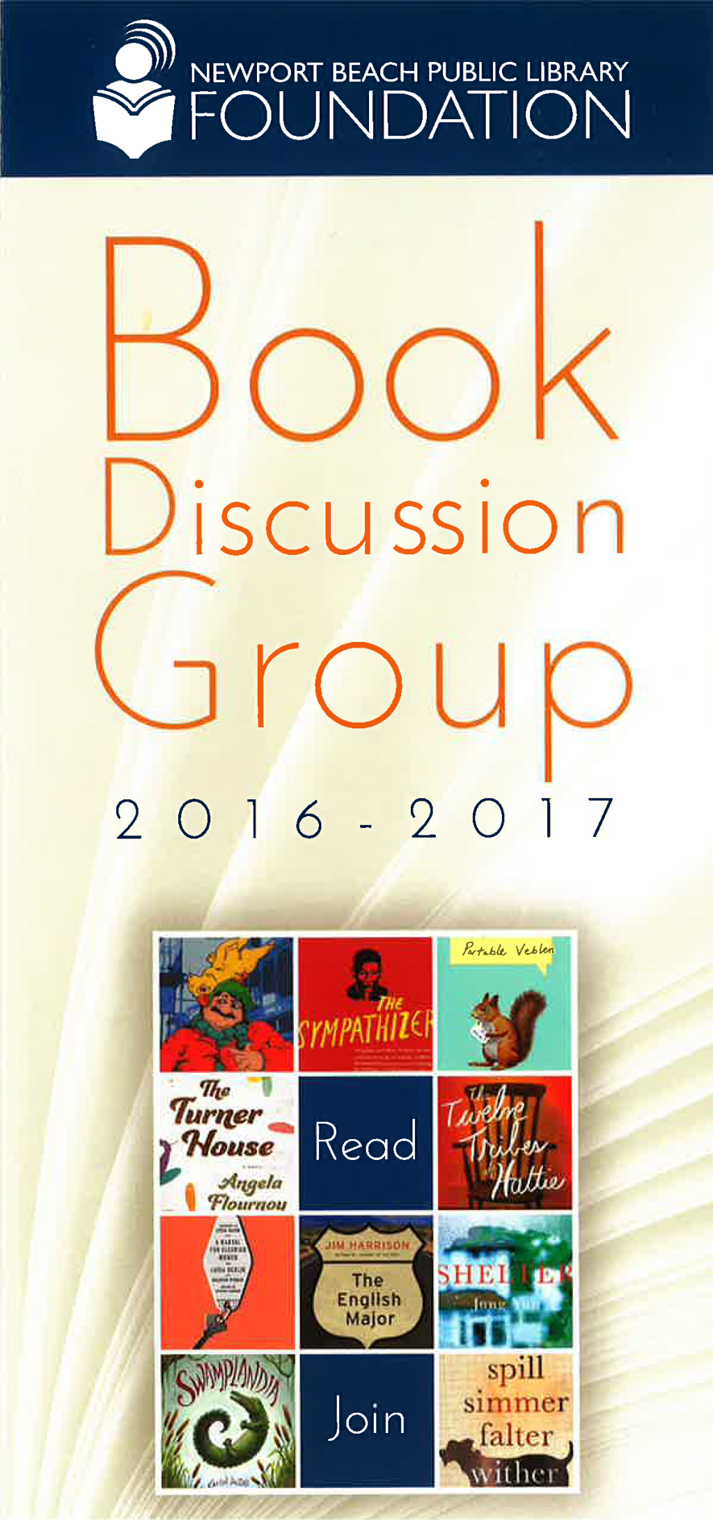 Book discussion group brochure