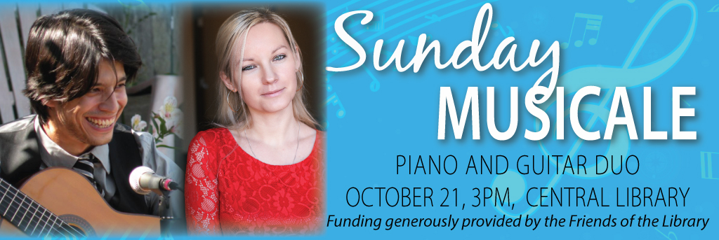 Sunday Musicale, Piano and Guitar Duo, October 21