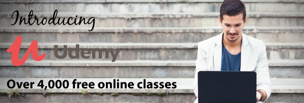 Link to Udemy, Over 4,000 online classes
